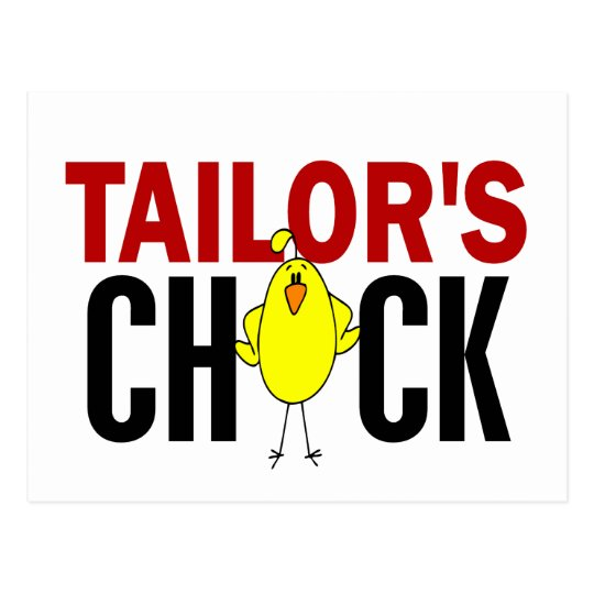 Tailor's Chick Postcard