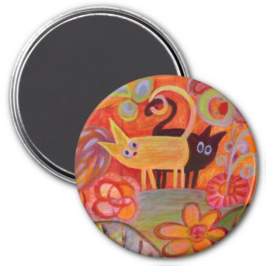 Tails and Cats Magnet