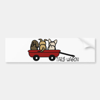 Tails Wagon Bumper Sticker
