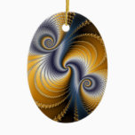 Tailspin - Fractal art Ceramic Ornament