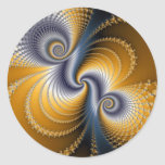 Tailspin - Fractal art Classic Round Sticker