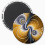 Tailspin - Fractal art Magnet