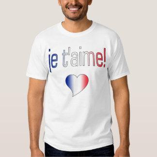 ¡T'aime de Je! Colores franceses de la bandera Camisas