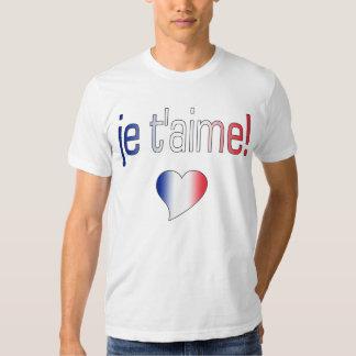 ¡T'aime de Je! Colores franceses de la bandera Playera