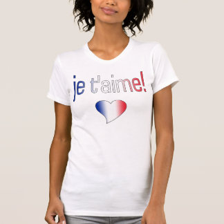 ¡T'aime de Je! Colores franceses de la bandera Playeras