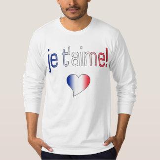 ¡T'aime de Je! Colores franceses de la bandera Polera