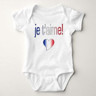 ¡T'aime de Je! Colores franceses de la bandera Remeras
