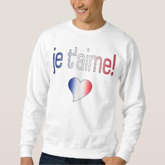 ¡T'aime de Je! Colores franceses de la bandera Suéter