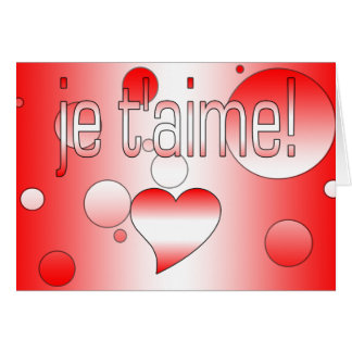 ¡T'aime de Je! La bandera de Canadá colorea arte Tarjeta Pequeña