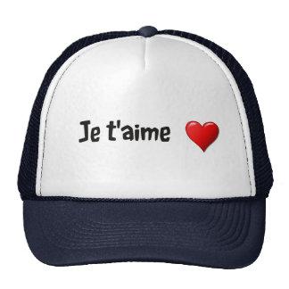 T'aime de Je - te amo en francés Gorra