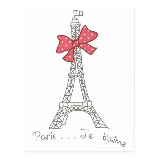 T'aime de París… Je Postales