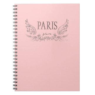 T'aime de PARÍS Je (te quiero) Spiral Notebook