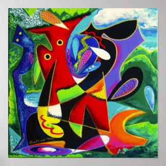 Taino Dance, Puerto Rico Art Poster