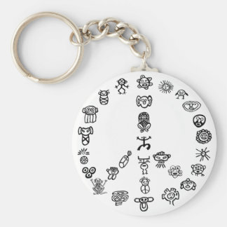 Taino Peace Basic Round Button Keychain