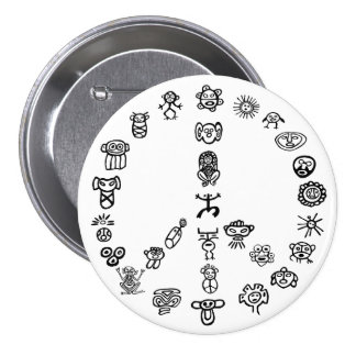 Taino Peace Pinback Buttons