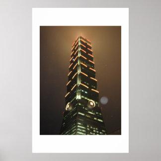 Taipei 101 at Night Poster