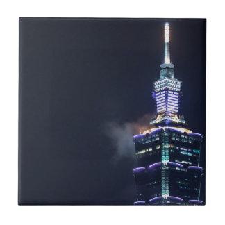 Taipei 101 Tower in Taiwan, Closeup Ceramic Tile