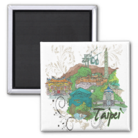 Taipei 2 Inch Square Magnet