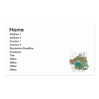 Taipei Double-Sided Standard Business Cards (Pack Of 100)