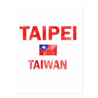 Taipei Taiwan Designs Postcard