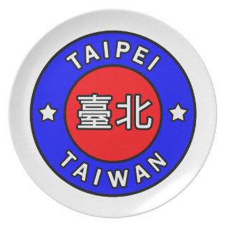 Taipei Taiwan Melamine Plate