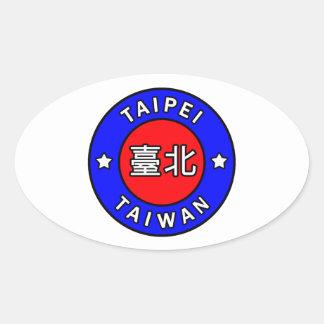 Taipei Taiwan Oval Sticker