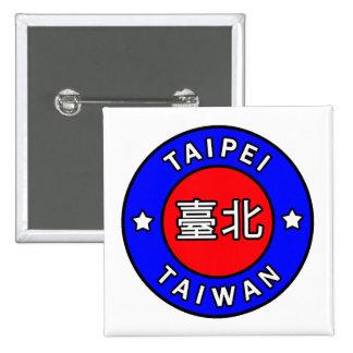 Taipei Taiwan Pinback Button