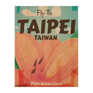 Taipei, Taiwan Vintage Travel Poster