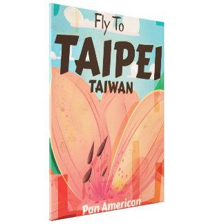 Taipei, Taiwan Vintage Travel Poster Canvas Print