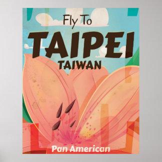 Taipei, Taiwan Vintage vacation Poster