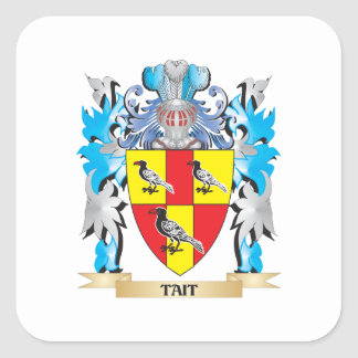 Tait Coat of Arms - Family Crest Square Stickers
