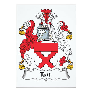 "Tait Family Crest 5"" X 7"" Invitation Card"