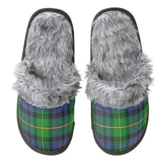 Tait Scottish Tartan Fuzzy Slippers Pair Of Fuzzy Slippers