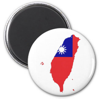 taiwan china country flag map shape silhouette 2 inch round magnet