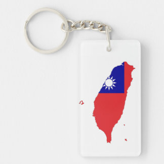 taiwan china country flag map shape silhouette keychain