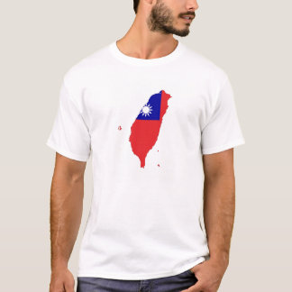 taiwan china country flag map shape silhouette T-Shirt