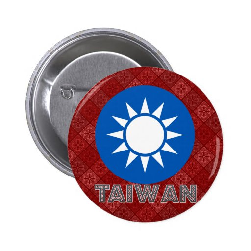 Taiwan Coat of Arms Pinback Buttons