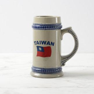 Taiwan Flag 2 18 Oz Beer Stein