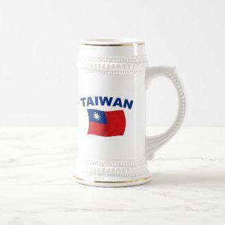 Taiwan Flag 2 Beer Stein