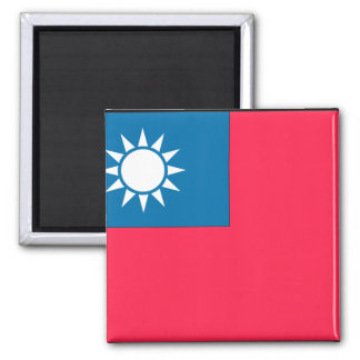 Taiwan Flag 2 Inch Square Magnet