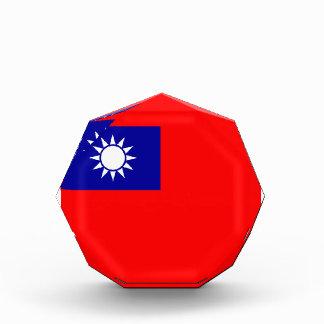 Taiwan Flag Acrylic Octagon Award
