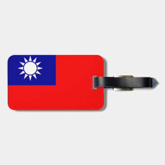 Taiwan Flag Bag Tag