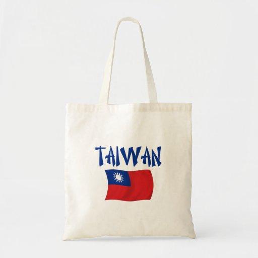Taiwan Flag Canvas Bags