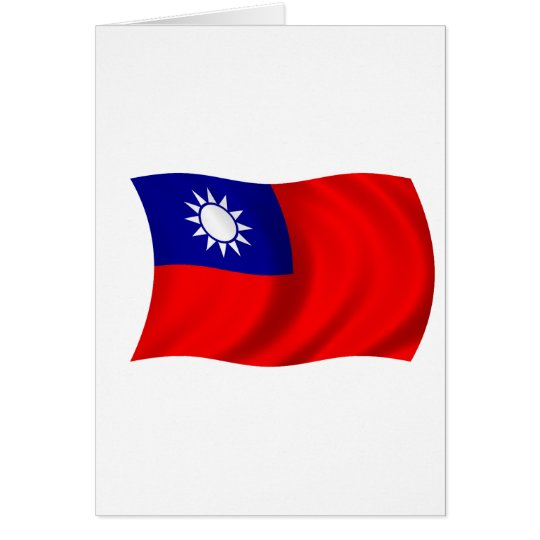 Taiwan flag card
