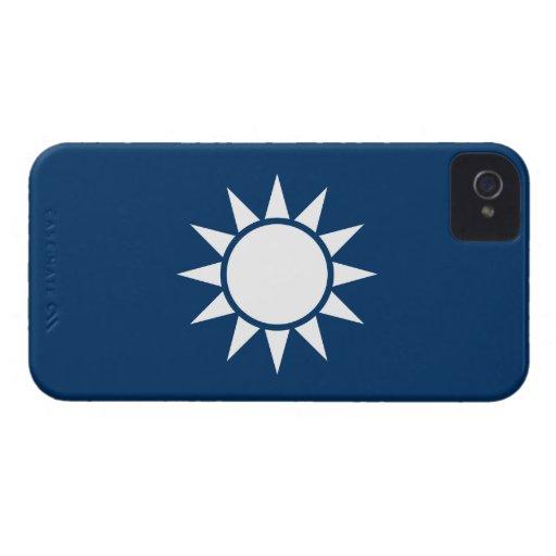 "Taiwan Flag ""Classic"" iPhone 4 Case-Mate Case"