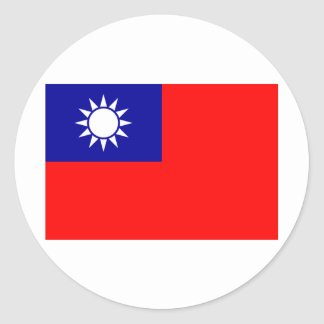 Taiwan Flag Classic Round Sticker