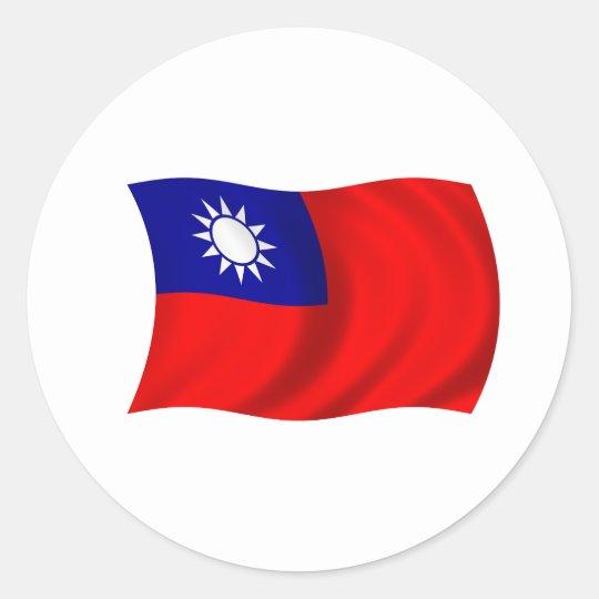 Taiwan flag classic round sticker