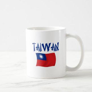 Taiwan Flag Classic White Coffee Mug