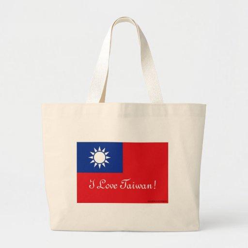 Taiwan flag jumbo tote bag
