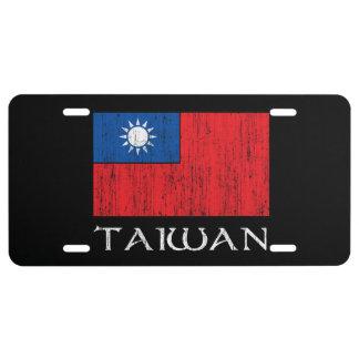 Taiwan Flag License Plate